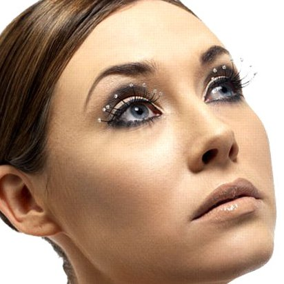 Droplet False Eyelashes - Fancy Dress Costume Accessories front