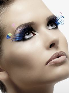 Eyelashes - Blue and Neon Plume