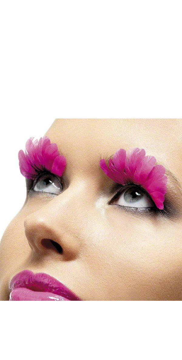Eyelashes - Feathered Neon Pink