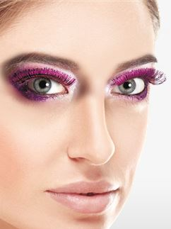 Pink Metallic Eyelashes