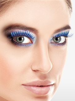 Blue Holographic Eyelashes