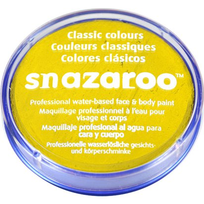 Bright Yellow Snazaroo Face Paint - 18ml Pot front