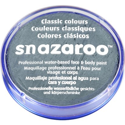 Dark Grey Snazaroo Face Paint - 18ml Pot - Halloween Face Paint front