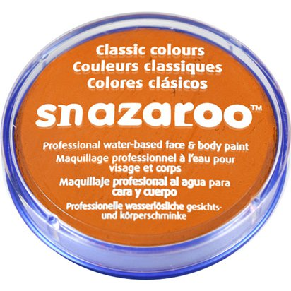 Orange Snazaroo Face Paint - 18ml Pot - Halloween Face Paint front
