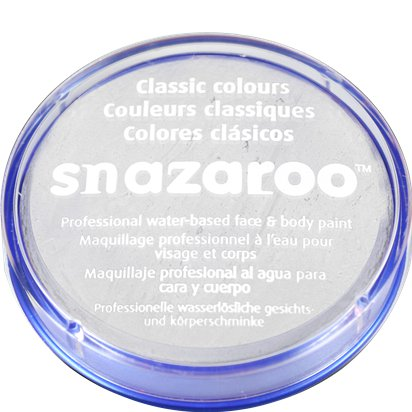 White Snazaroo Face Paint - 18ml Pot - Halloween Face Paint front