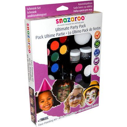 Snazaroo Party Face Paint Kit - 50 Faces - Face Paint Kits front