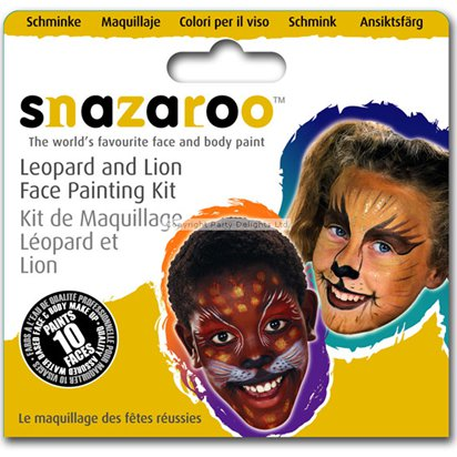 Snazaroo Leopard & Lion Face Paint Kit - 10 Faces front