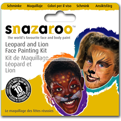 Snazaroo Leopard & Lion Face Paint Kit - 10 Faces