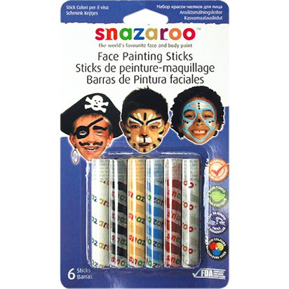 Snazaroo Boys Face Painting Sticks - Face Painting Kits front