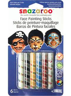 Snazaroo Boys Face Painting Sticks