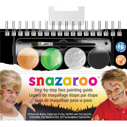 Snazaroo Halloween Face Paints & Booklet - Halloween Makeup front