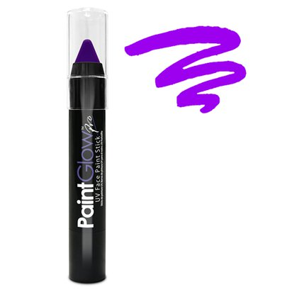 Violet UV Paint Stick - 3g - UV Glow Makeup & Festival Face Paint front