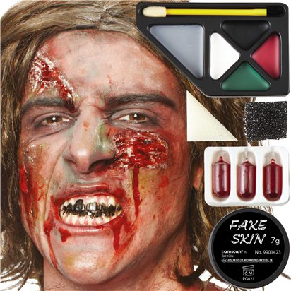 Horror Zombie Make Up Kit - Halloween Special Effects Makeup front