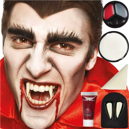 Vampire Face Paint Kit  - Halloween Makeup front