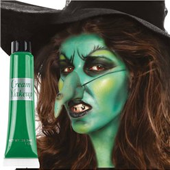 Green Cream Make Up Tube - 28ml  - Face Paint