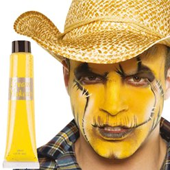 Yellow Cream Make Up Tube - 28ml - Face Paint