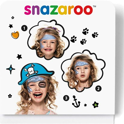 Snazaroo Pirate Mini Face Paint Kit - Face Painting Kit   - Pirate Fancy Dress Costume Accessories front