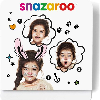 Snazaroo Bunny Mini Face Paint Kit - Animal Face Painting Kit front