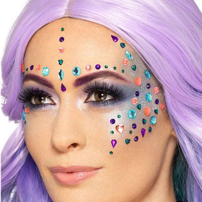 Mermaid Jewel Face Gems - Festival Face Jewels - Festival Makeup front