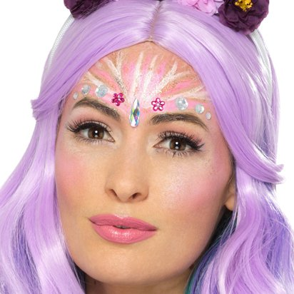 Unicorn Face Jewels Gem Kit - Festival Makeup front