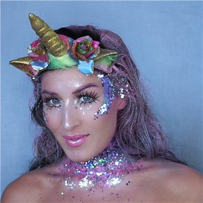 Unicorn Chunky Glitter Gel Kit   - Face Glitter -  Festival Glitter back