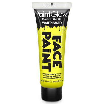 Bright Yellow Face Paint Tube - 13ml  front