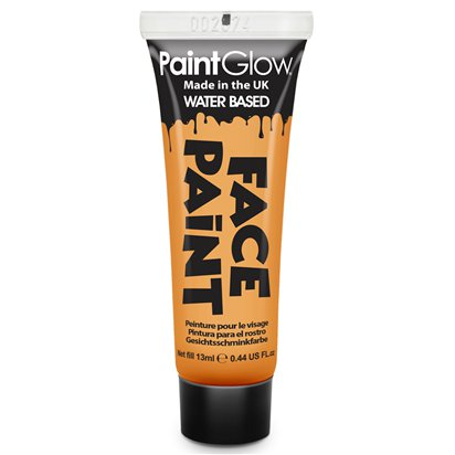 Orange Face Paint Tube - 13ml - Halloween Makeup front