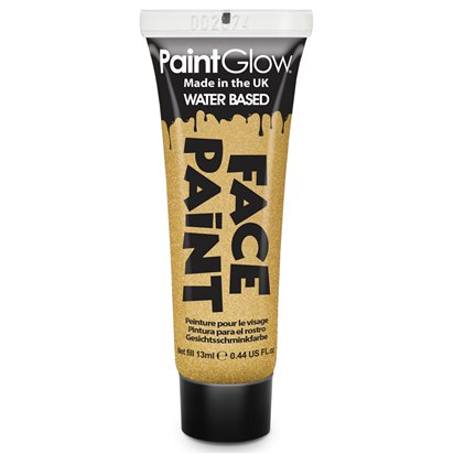 Gold Face Paint Tube - 13ml  front