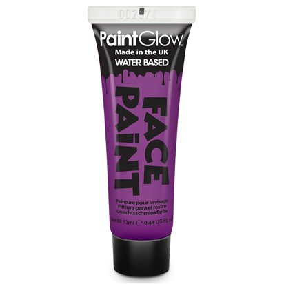 Purple Face Paint Tube - 13ml - Halloween Makeup front