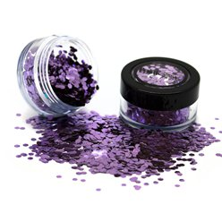 Fancy Dress Accessories Biodegradable Chunky Glitter Shaker - Purple 3g