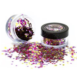 Fancy Dress Accessories Biodegradable Chunky Glitter Shaker - Pink Sparkle 3g