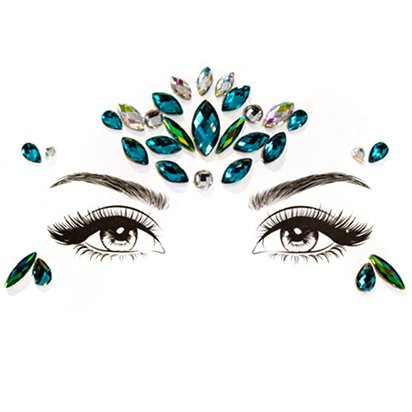 Mystic Mermaid Face Gems - Festival Face Jewels - Festival Makeup  front