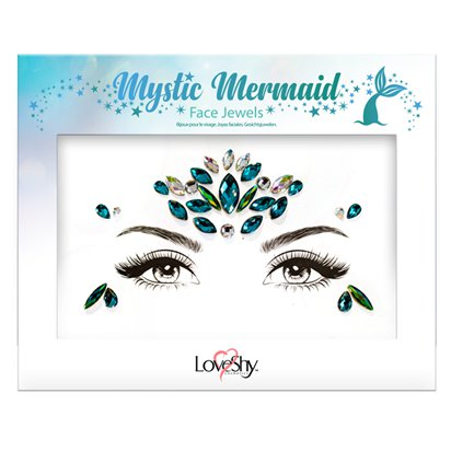 Mystic Mermaid Face Gems - Festival Face Jewels - Festival Makeup  left
