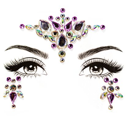 Unicorn Dreams Face Gems - Festival Face Jewels - Festival Makeup  front