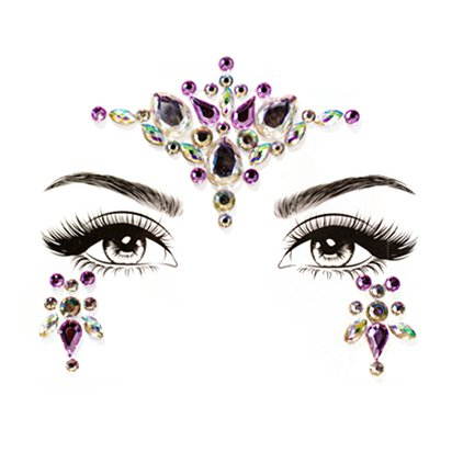Unicorn Dreams Face Gems - Festival Face Jewels - Festival Makeup  pla
