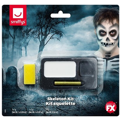Skeleton Face Paint Kit - Child Halloween Fancy Dress Accessories front