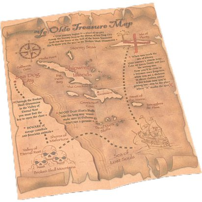 Pirate Treasure Map  - Pirate Fancy Dress Costume Accessories front