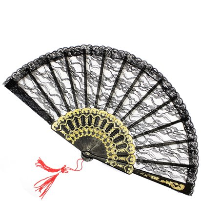 Spanish Lace Fan - Fancy Dress Accessories front