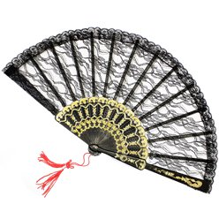 Spanish Lace Fan - Black