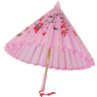 Pink Parasol - Chinese Parasol - One Size front