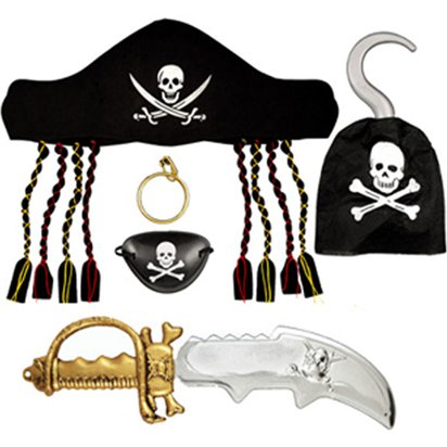 Children's Pirate Set  - Pirate Fancy Dress Costume Accessories front