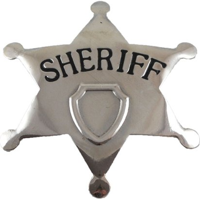 Sheriff Metal Badge - Cowboy Fancy Dress Accessories front