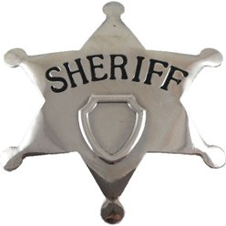 Sheriff Metal Badge