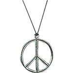 60's Metal Peace Sign Necklace