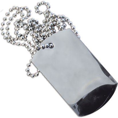 Plain Aluminium Dog Tags front