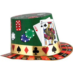 Casino Night Foil Card Hat