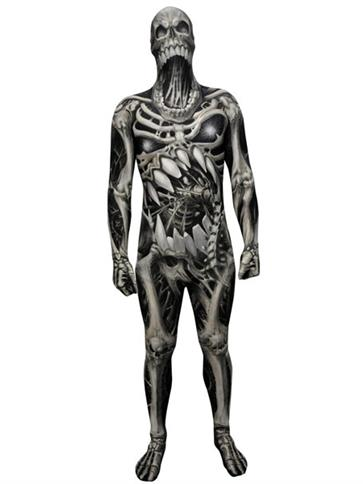 Morphsuit Skull and Bones - Adult Costume front