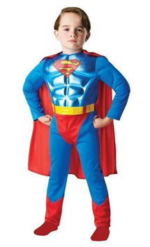 Metallic Superman Deluxe Muscle Chest - Child Costume