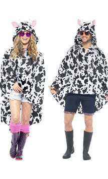 Unisex Cow Party Poncho - Adult Costume