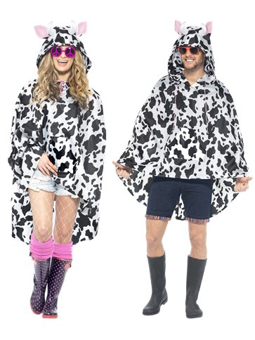 Unisex Cow Party Poncho - Adult Costume front